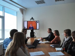 The first international video conference was held at the Aquarium FEB RAS